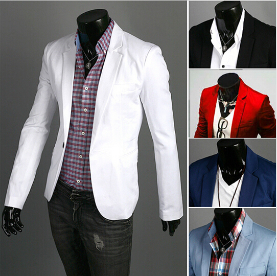 Fashion Blazer Men 2018 New Spring Autumn Clothing Candy Colors Blazer Masculino Casual Slim Fit Wild Terno Men 'S Suit Jacket