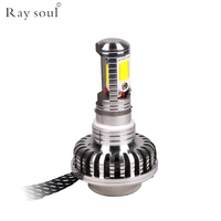BA20D H4 Motorcycle LED Headlight Bulbs DC 12V 45w Led Lamp Scooter 4000lm Super Bright White Motorbike Accessories Fog Lamp