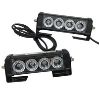 Car Vechicle 2pcs 4 Led Warning Light Emergency Amber Strobe Flash Light Car Styling Lights For