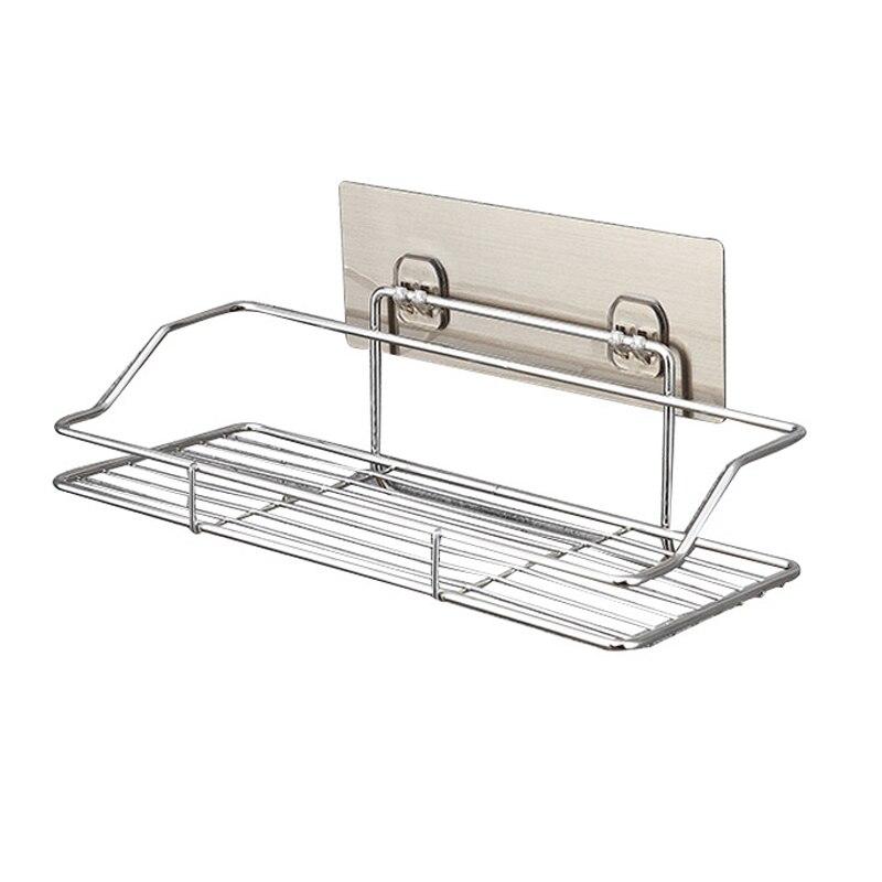 3e08ab2530d6 Caliente nuevo acero inoxidable baño cocina estante de almacenamiento de  adhesivo cesta golpe libre Hogard OC15