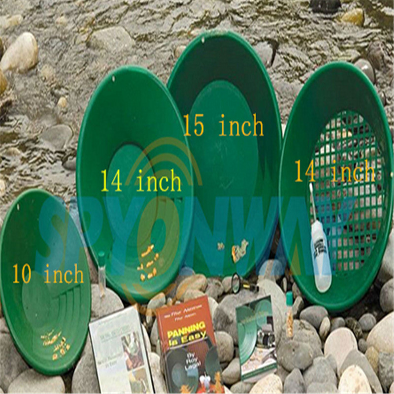 Set of 4 Green Plastic Gold Pans in Assorted Sizes, Dual Riffles Micro Shallow and Deep with best quality purnima sareen sundeep kumar and rakesh singh molecular and pathological characterization of slow rusting in wheat