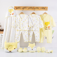 (13pcs/set)Newborn Baby 0 6M Clothing Set cartoon fox long Sleeve new born baby clothes Boy/Girl Baby outfit christmas gift