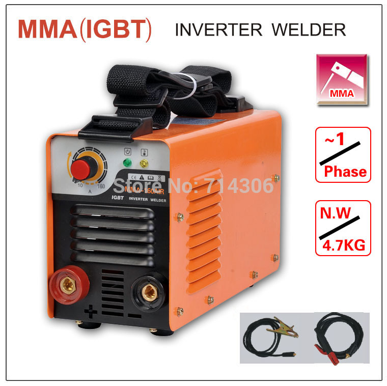 ZX7 MMA 160 IGBT small  welding machine single phase AC220V protable inverter welder mma arc zx7 stick welder rtd2668 universal hdmi vga audio lcd controller board kit for 15 6 inch n156bge l41 1366x768 lvds monitor kit easy to diy