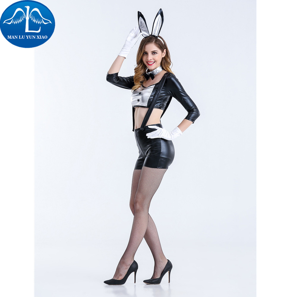 MANLUYUNXIAO Sexy Bunny Costume Halloween Costumes Dress Up Carnival Cosplay Costume Bunny Uniforms Halloween Costumes For Women