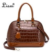 Brand Handbag Women Crocodile Pattern Shell Leatherette Bag Lady Shoulder Bag Luxury Female Large Tote Women Postman Bags