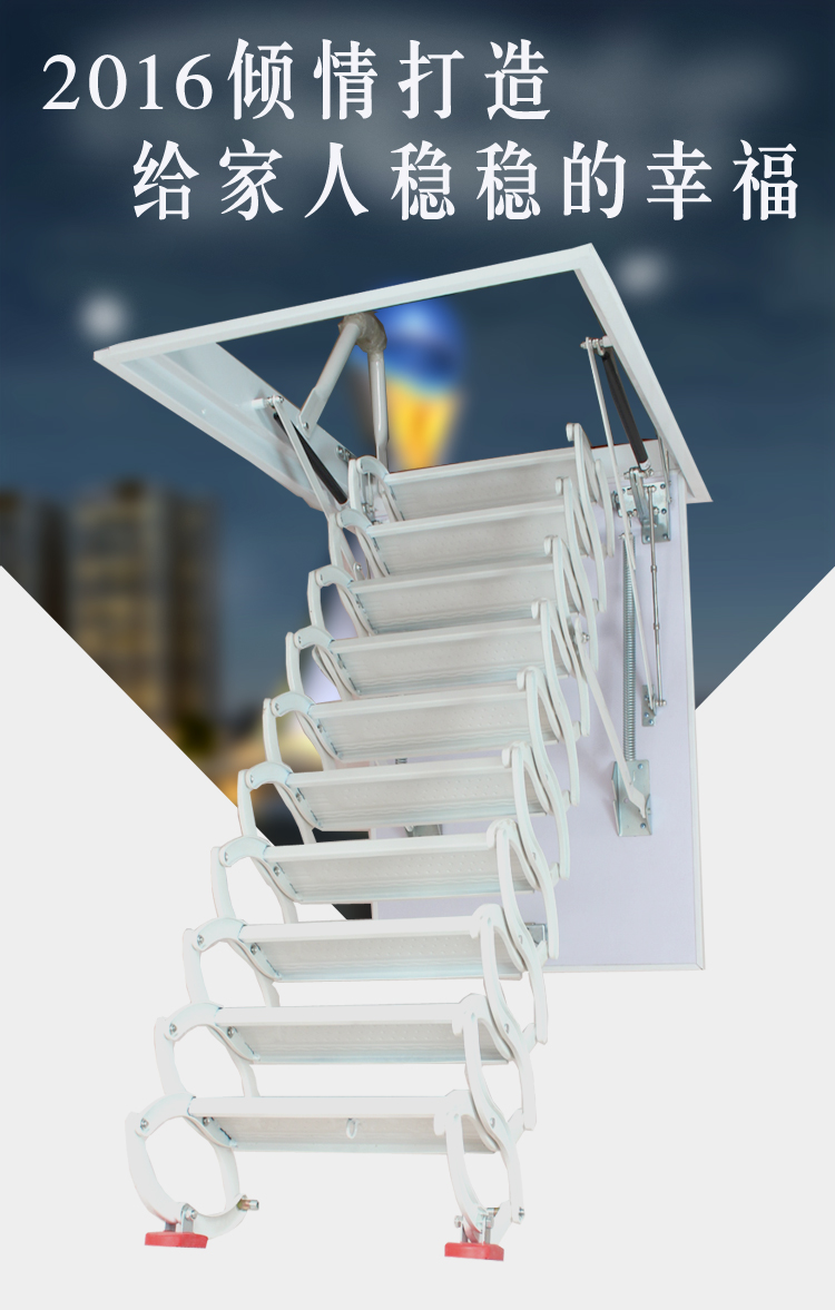 por encargo buhardilla escaleras telescpicas villa hogar interior doblado de acero de