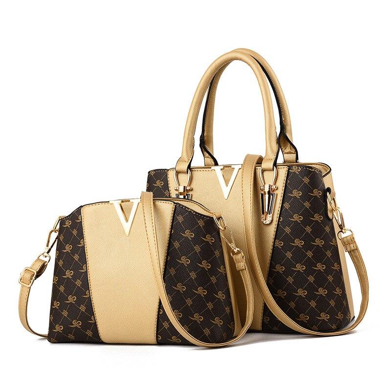 Women Bags Set 2 Pcs Leather Handbag Women Tote Bag Ladies Shoulder Bag for Women 2018 Messenger Bag Sac a Main 27