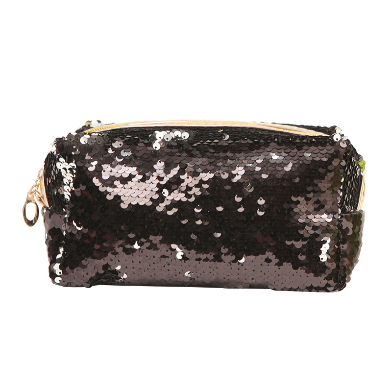 Women Makeup Bag Sequins Zipper Brush Organizer Travel Portable Toiletry Cosmetic Bags OH66