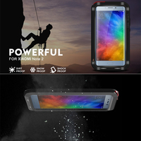 Original LOVE MEI Life Waterproof Metal Case For Xiaomi Mi3 Mi4 Mi5 Mi Max Note2 Redmi