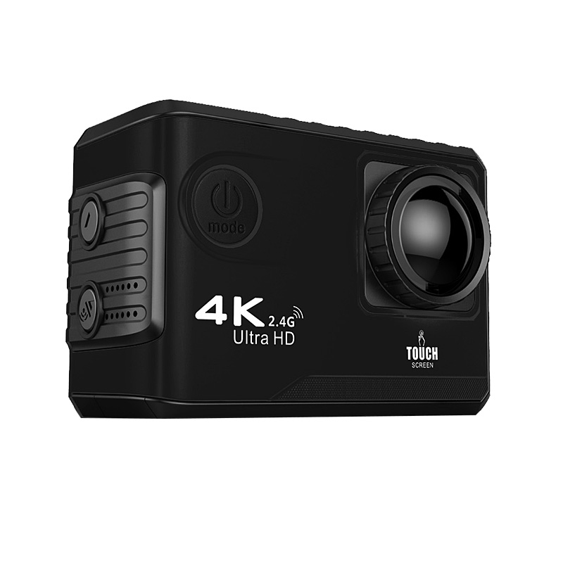 WiF Sport Action Camera 4K UHD 2 Touch Screen 1080P Video Camera Waterproof 170 Wide Angle Action Camera Outdoor Helmet Cam f88 action camera black