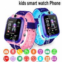 Enfants montre intelligente IPX7 étanche montre intelligente écran tactile SOS téléphone appel dispositif localisation Tracker Anti-perte enfants montre intelligente