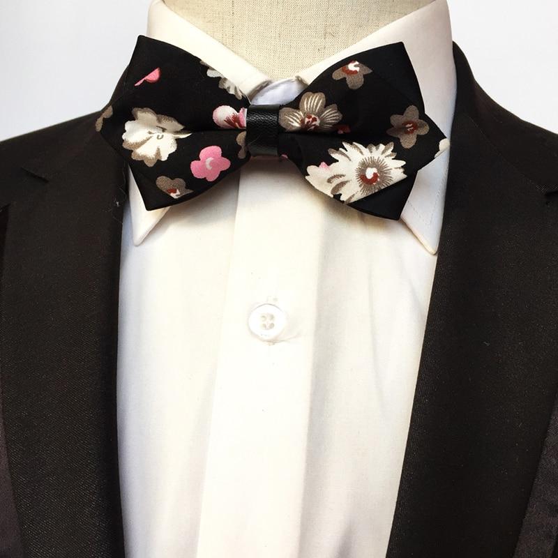 ᗚMantieqingway algodón impreso arco Corbatas boda para hombres de ...