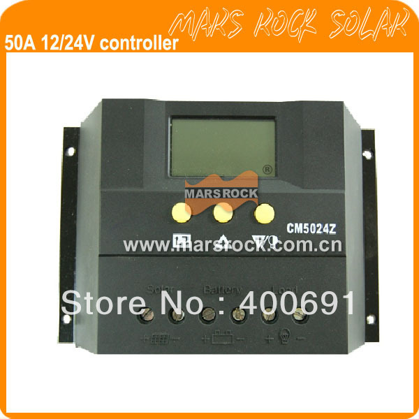 50A 12V/24V PWM Intelligent solar charge and discharge controller for home System with LCD Display 10a 12v24v solar charge controller intelligent power system