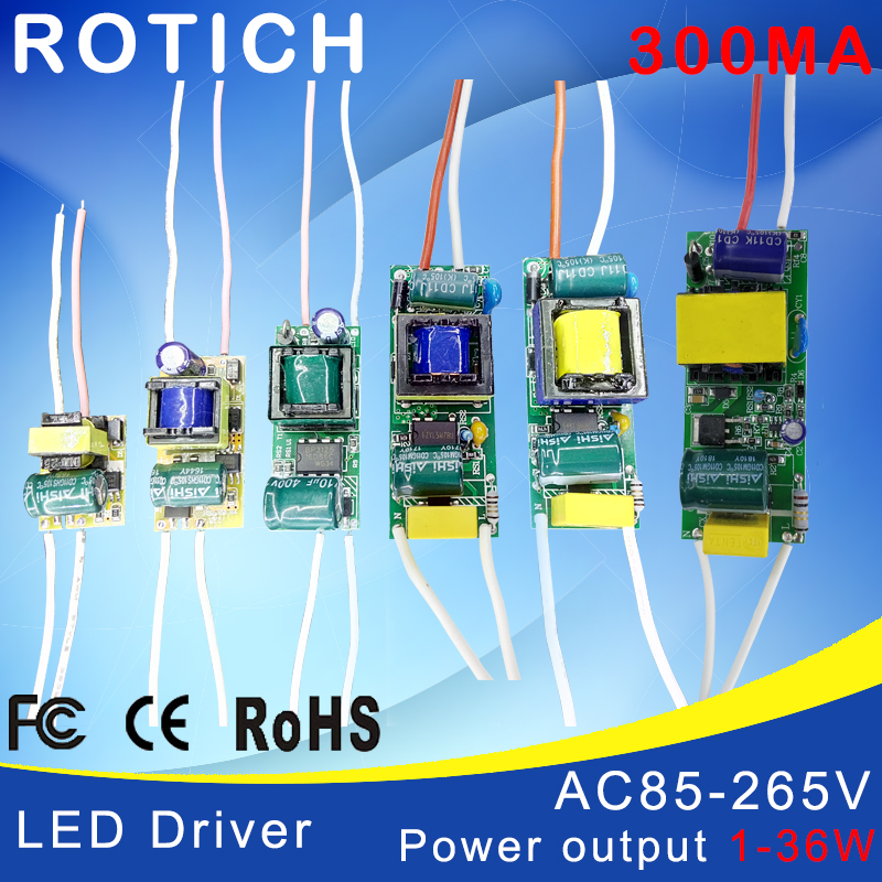 1-3W,4-7W,8-12W,15-18W,20-24W,25-36W LED driver power supply built-in constant current Lighting 85-265V Output 300mA Transformer tl19d24x1w 24w led driver white blue 85 265v