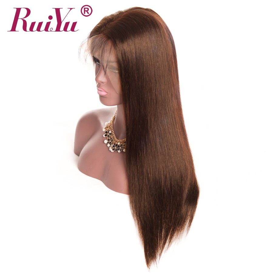 13x4 Lace Front Human Hair Wigs Light Dark Brown Lace Front Wig RUIYU Straight Wigs Remy Wigs With Baby Hair-in Human Hair Lace Wigs from Hair Extensions & Wigs    2