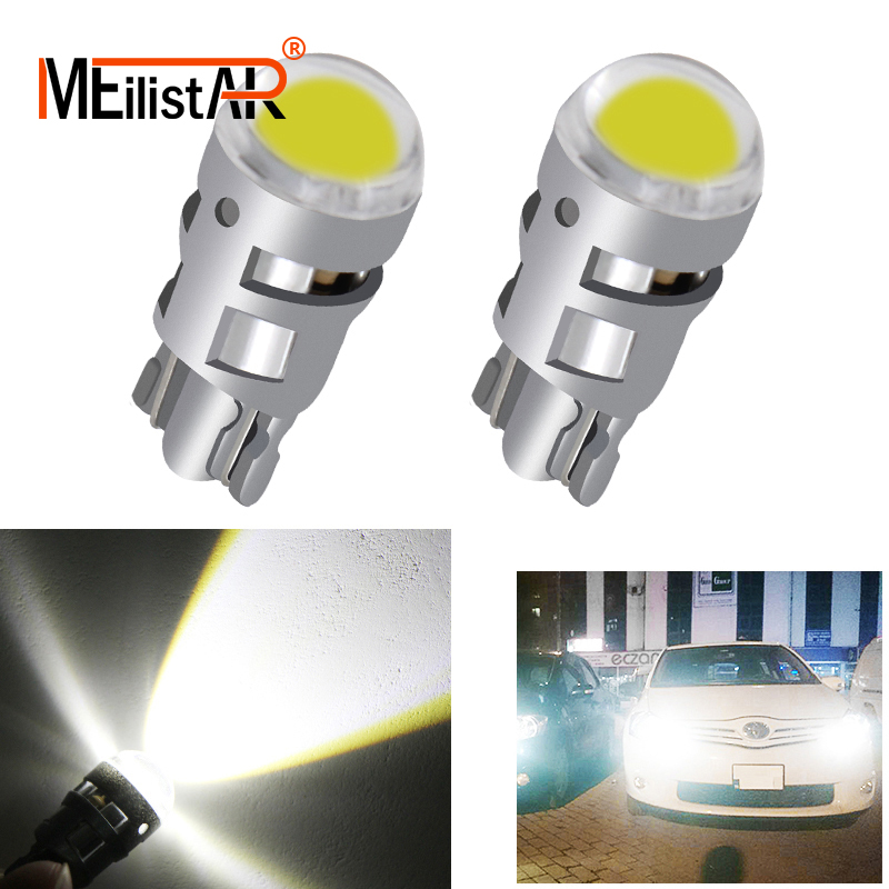 2018 2x T10 Car led 168 194 2825 W5W LED For CREE Chip Led Replacement Bulbs Car License Plate Car Light Source Car accessories 10x white 360 degree 5050 smd 168 194 2825 w5w t10 led car led light bulbs for parking led license plate lights