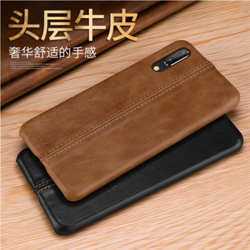 2018 Fashion Brand New Back Case for Huawei P10 P10plus Luxury Genuine Cow Leather Phone Cover Skin Bag for Huawei P20 P20pro