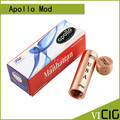 Hottest Apollo Mod Aluminum E Cigarette Mechanical  Mod suit 18650 apollo Mahattan mod for RBA RDA