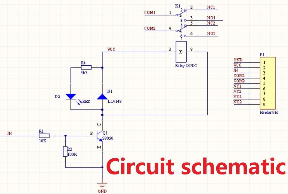 Ziemlich Dpdt Relais Schaltplan Zeitgenössisch - Elektrische ...