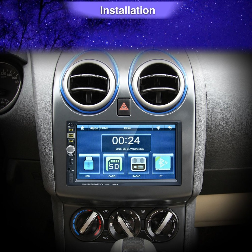 7 Inch High Definition Car Radio MP5 Player Touch Screen Bluetooth Phone Link Smart Phone Stereo Radio MP4 Player цена