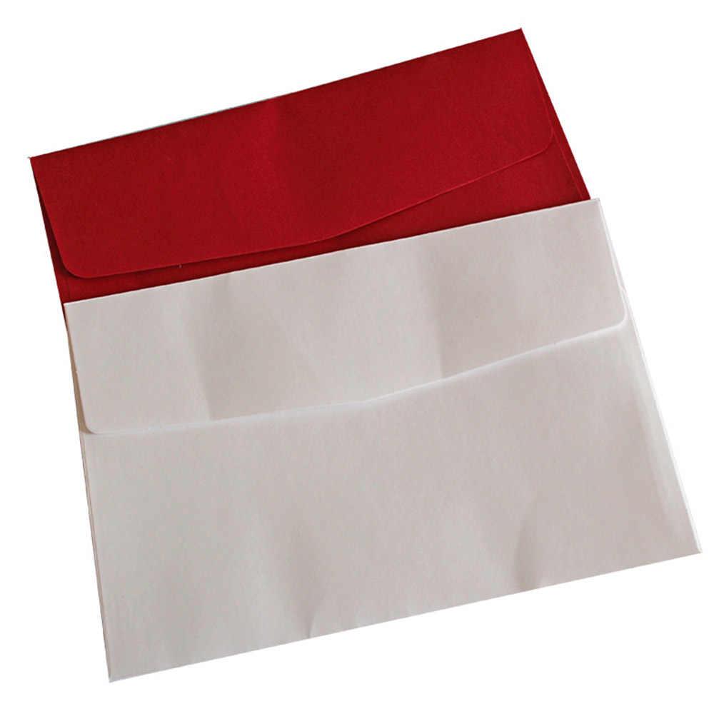 1pcs 12 19cm Wedding Invitation Card Solid Color Paper Square