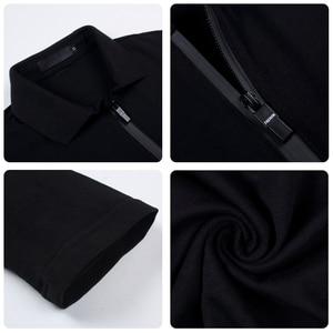 Image 5 - ARCSINX Polo de moda coreana para hombre, Polos ajustados de marca, de talla grande 5XL 4XL 3XL, Polos de manga larga negros para hombre