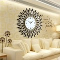 For a long time of modern European style living room wall innotime diamond decoration mute watch large quartz clock