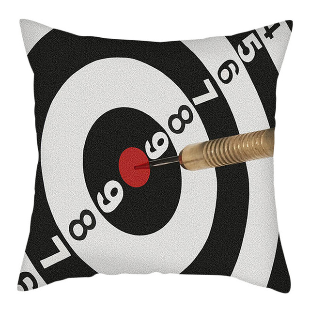 fuwatacchi darts target pillow covers polyester christmas day gift cushion cover home sofa decorative throw pillowcases 45x45cm