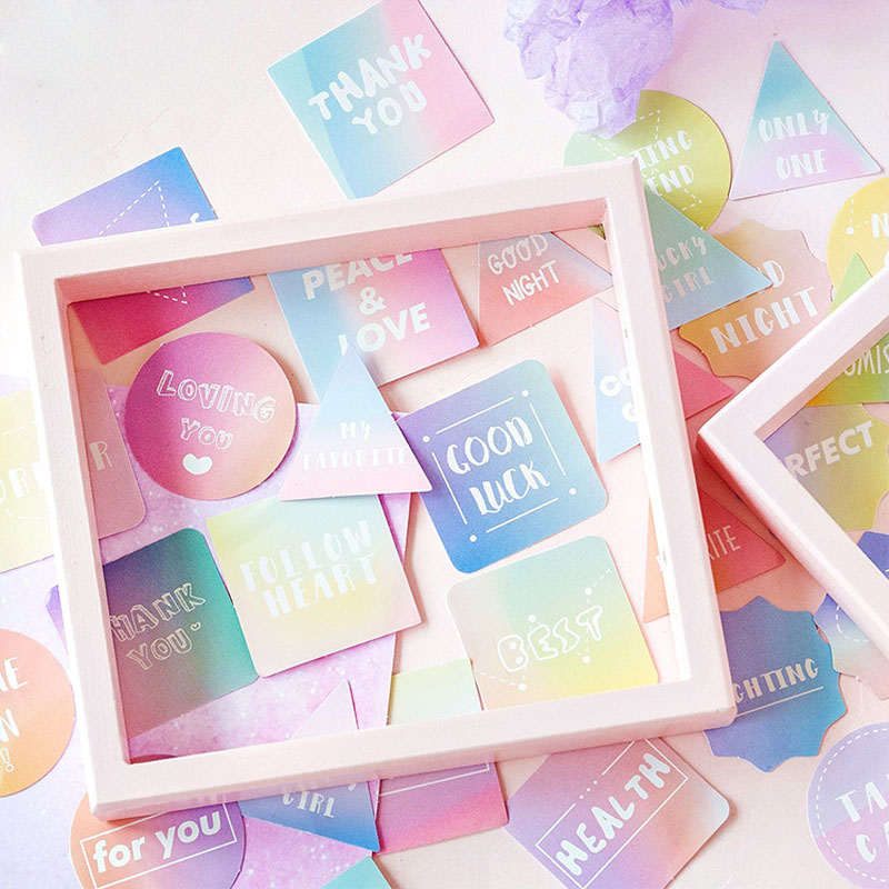 45pcs /box Best Wisher For You Mini Decorative Stickers Scrapbooking DIY Diary Album Stick Label Decor Student Supply