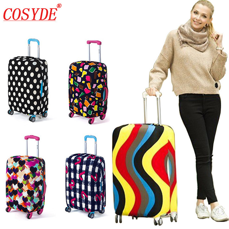 Colorful Travel Luggage Cover Protective Suitcase Cover Trolley Case Accessories Travel Luggage Dust Cover For 18 To 30 Inch Bag