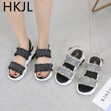 HKJL Fashion women Summer wedges with comfortable sandals toe refreshing students fashion sports shoes A151