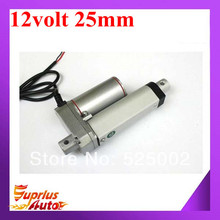 12V DC actuator linear 10mm/s,1inch/25mm stroke length, 900N load capacity linear actuators