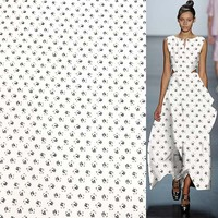 Mini abstract floral print 100% silk Crepe DE chine fabric 140cm width,SCDC844