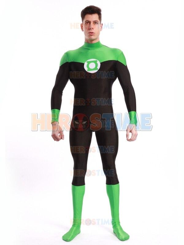 Spandex Fullbody Cosplay Comics Green Lantern Costume Halloween Party Green Lantern Superhero Costume free shipping