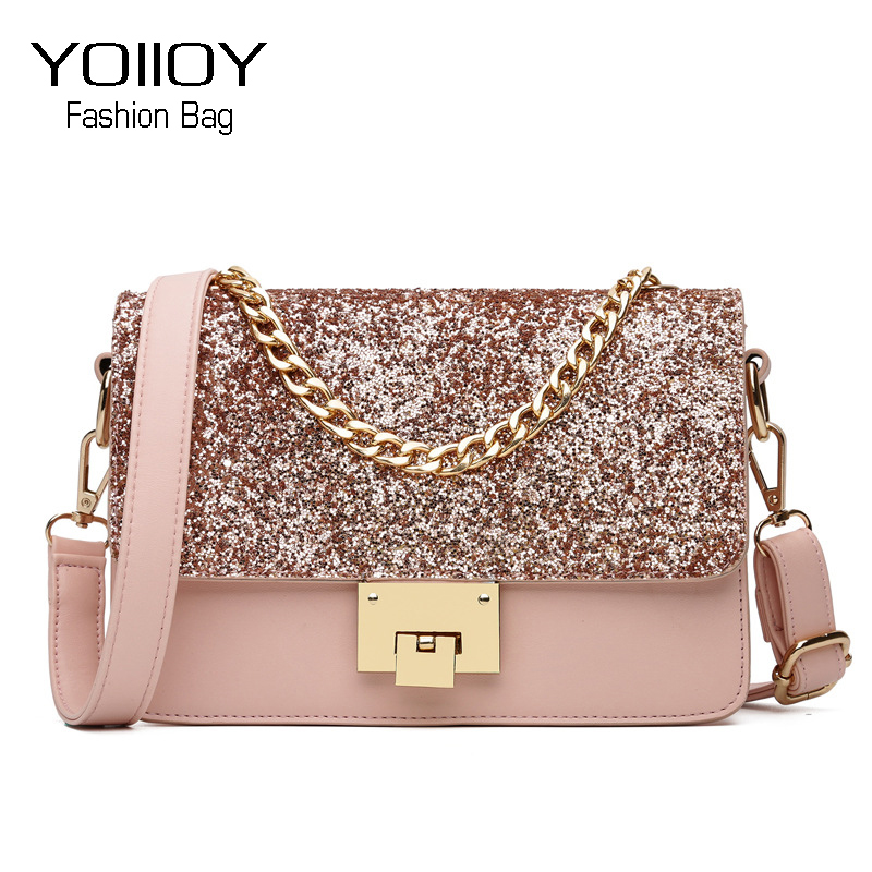2017 New Women Pu Leather Shoulder bag Women's Chain Strap Crossbody Bag Fashion Luxury Ladies Bag Female Ladies Messenger Bag new bag strap chain wallet handle purse acrylic resin strap chain strap replaced bag strap bag spare parts