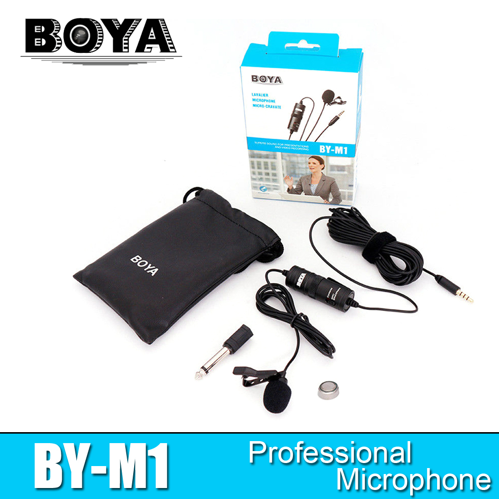 BOYA BY-M1 Lavalier Microphone BY M1 Camera Microphone Video Mic Recorder for iPhone Smartphone Canon Nikon DSLR Zoom Camcorder цены онлайн