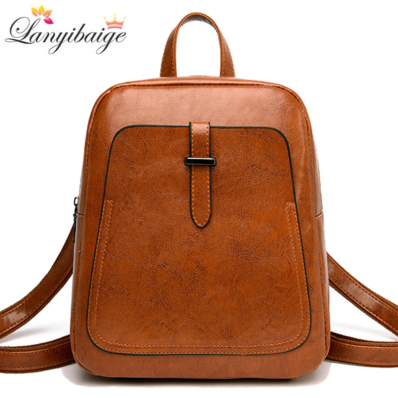2019 New Women Backpacks Ladies Luxurious Shoulder Bag High Quality Leather School Bag For Girls Vintage Female Travel Backpack