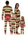 Niños Adultos de La Familia Pijamas de dormir ropa de Dormir Trajes de Navidad Mameluco Del Mono