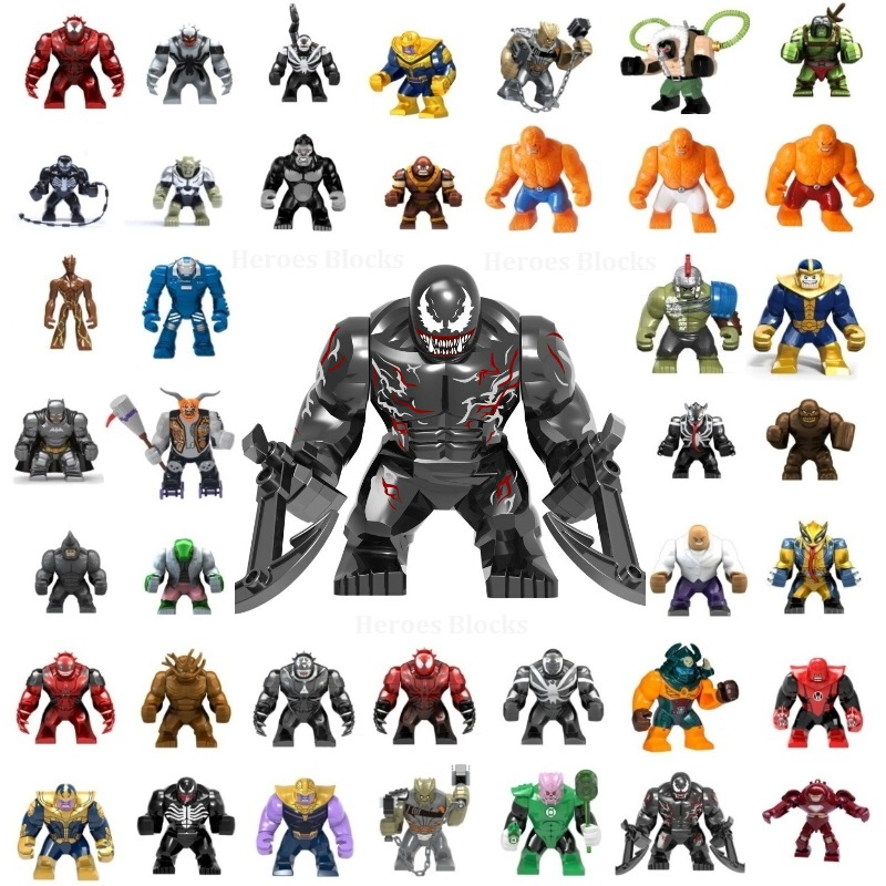 Single Sale Large Size Super Hero Movie Venom Carnage Batman Thanos Model Mini Building Blocks Toys Kids Gifts Compatible Legoed