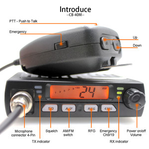 Image 2 - New ANYSECU Mini Mobie Radio CB 40M 25.615 30.105MHz 10M Amateur 8W AM/FM Citizen Band CB Radio AR 925