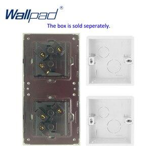 Image 2 - Wallpad קריסטל מזג לבן זכוכית פנל 16A האיחוד האירופי 110V 240V האיחוד האירופי כפול קיר שקע 172*86MM גודל