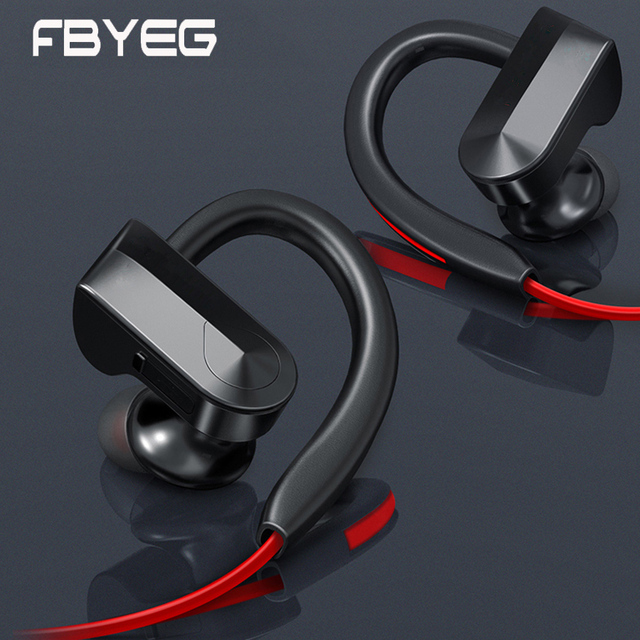 FBYEG Bluetooth Earphone wireless headphones Bluetooth Sport headset Sweatproof Earbuds Bass Noise cancelling With Mic For phone