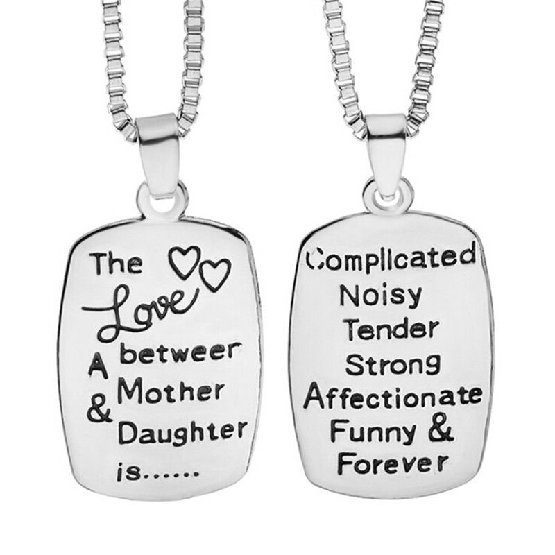 Industrious Gs Brand Mom Necklace Love With Daughter Zinc Alloy Necklaces & Pendants Fashion Jewelry For Women Mother's Day Birthday Gift R4 Packing Of Nominated Brand