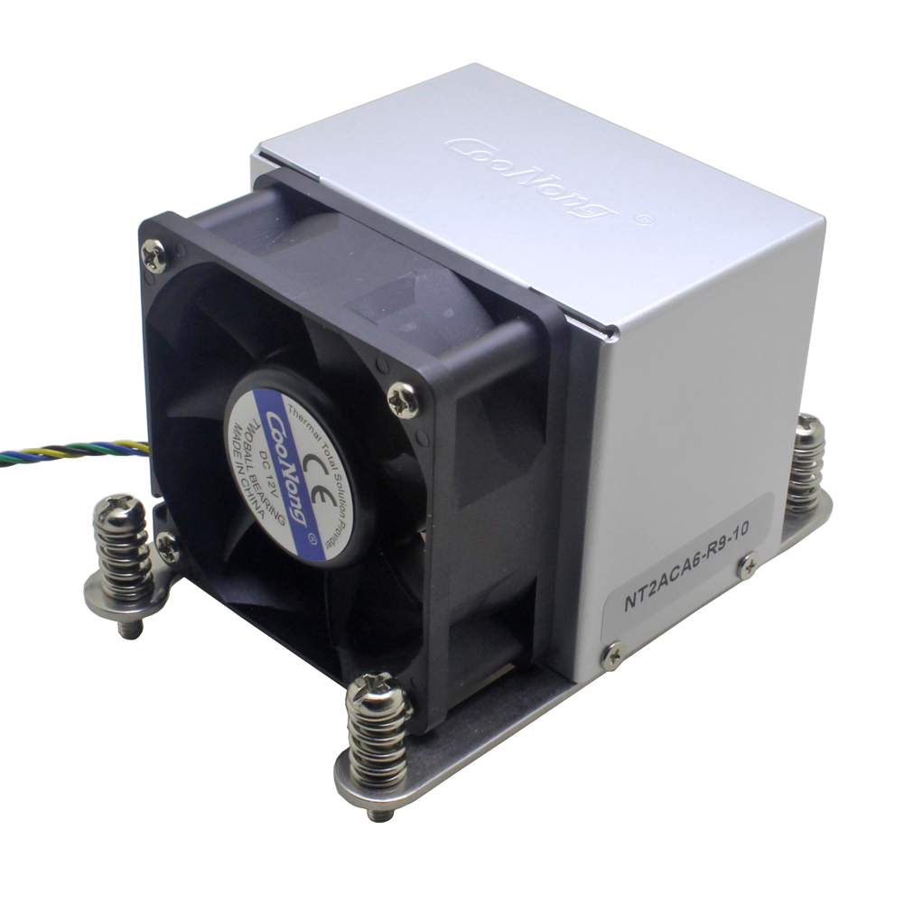 2U servidor CPU cooler 3 6025 tubos de calor ventilador de refrigeração para Intel LGA 2011 computador Industrial Retângulo Estreito ILM Ativo refrigeração