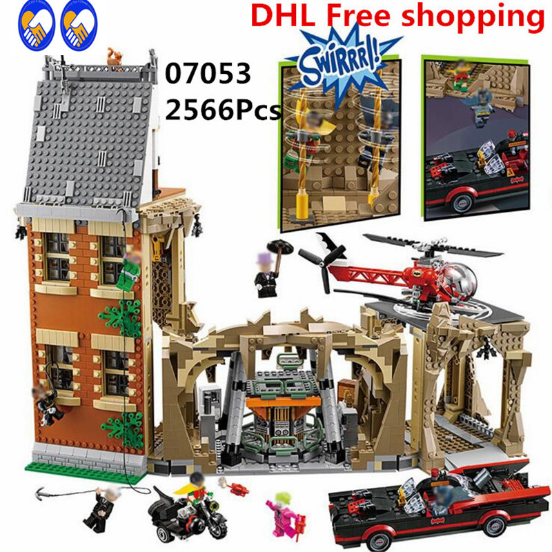 A Toy A Dream Lepin 07053 2566PCS DC Batman SuperHeroes Batcave Educational Building Blocks Bricks Toys Model Compatible 76052 arte lamp встраиваемый светильник arte lamp cool ice a8803pl 1wh