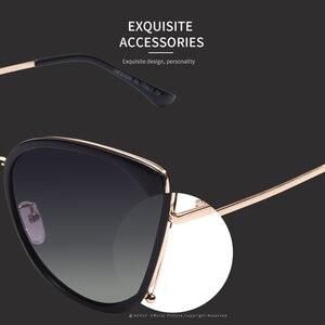 Image 4 - AOFLY 브랜드 디자인 패션 숙녀 고양이 눈 선글라스 여성 편광 선글라스 여성 고유 프레임 그라디언트 렌즈 UV400 A155