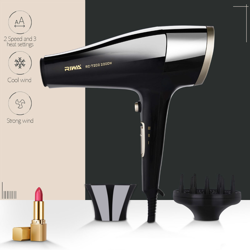 2200W Power Hair Dryer Professional Salon Blow Dryer 2200W Hairdryer Styling Tools Salon Household Use Hairdresser Blower Hair electric professional hair dryer for hairdresser kf 8917 fukuda yasuo hairdryer high power hair dryer 220v 2200w