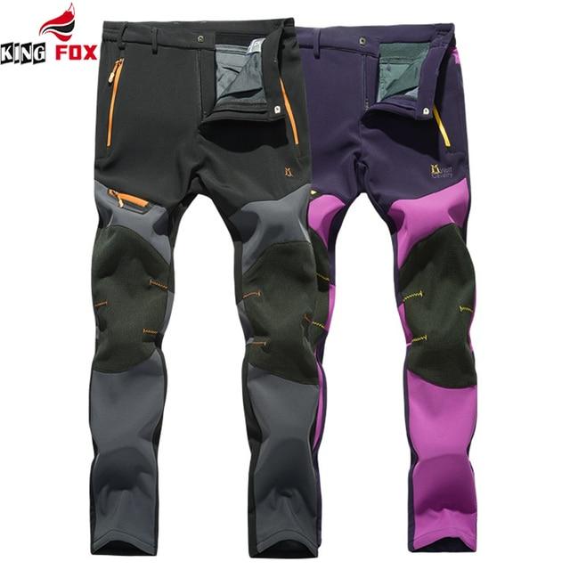 New Outwear Breathable waterproof windproof plus velvet men Pants Trousers women Men brand Pants Sweatpants Men Joggers