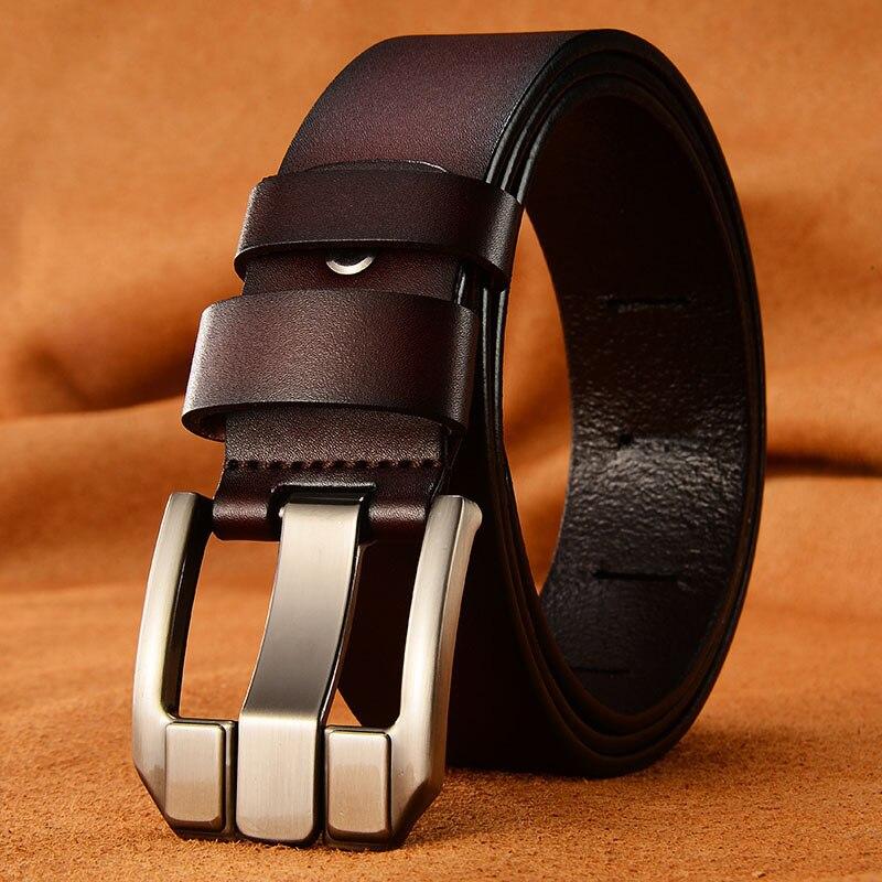 VADO Designer Belts Men Pin buckle High Quality Cow Genuine Leather Belt Men Jeans Strap Male