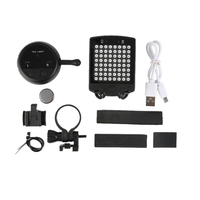 Black Bike USB Charge LED Light Back Bicycle Tail Night Light Flashing Light Lamp Taillight Night